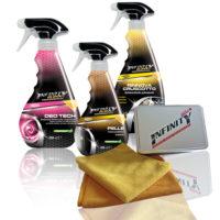 Deo Tech deodorante rinfrescante lunga durata, Trattamento pelle crema protettiva nutriente, Rinnova cruscotto autolucidante polivalente