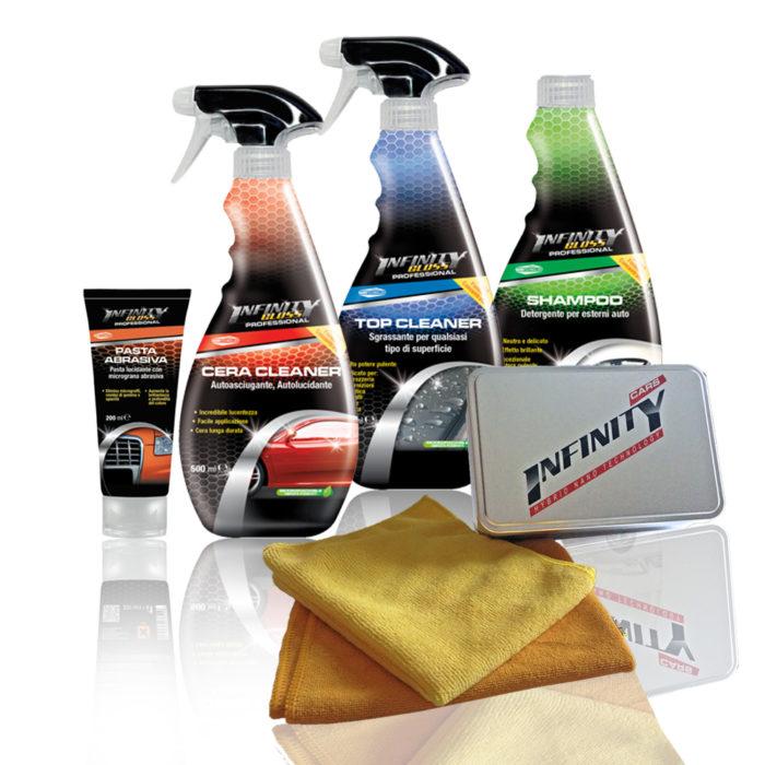 Pasta abrasiva pasta lucidante con micrograna abrasiva, Cera cleaner autoasciugante autolucidante, Top Cleaner sgrassante per qualsiasi tipo di superfice, Shampoo detergente per esterni auto