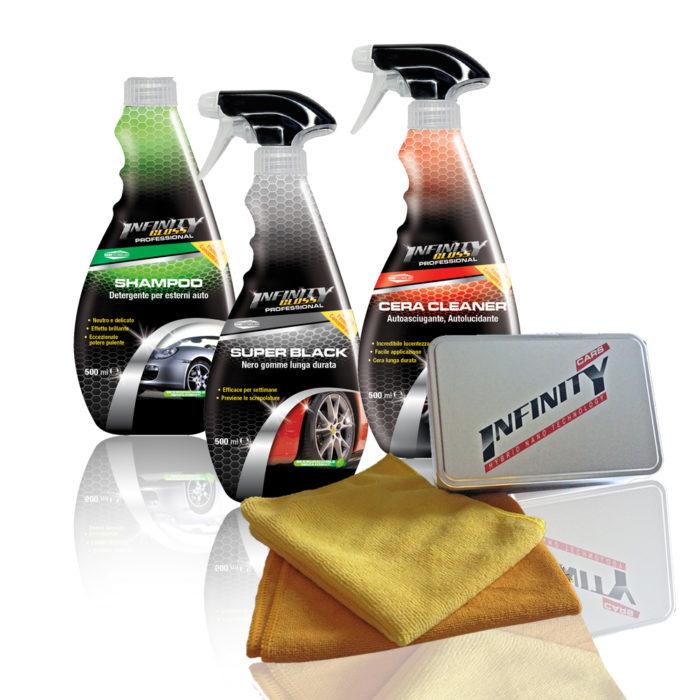 Shampoo detergente per esterni auto, Super Black nero gomme lunga durata, Cera cleaner autoluciante autoasciugante